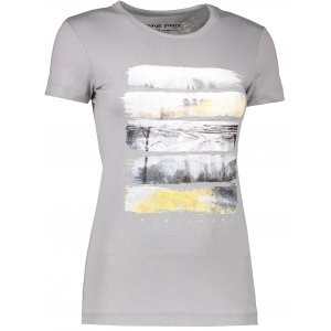 Dámské triko s krátkým rukávem ALPINE PRO SASHA LTSK223 TMAVĚ ŠEDÁ