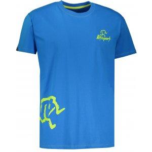 Pánské tričko s krátkým rukávem ALTISPORT AGNAN ALMW17071 MODRÁ