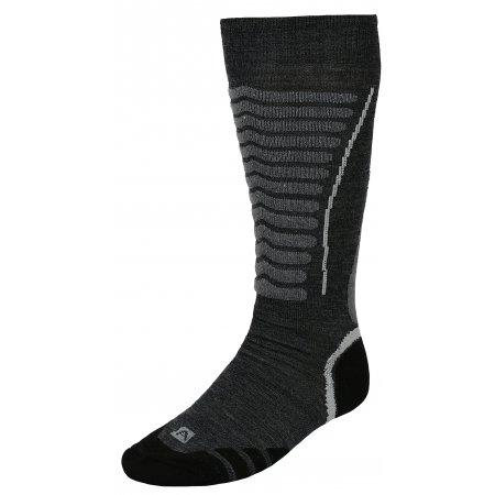 Lyžařské ponožky ALPINE PRO NELL USCK022 TMAVĚ ŠEDÁ