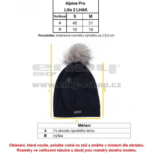 Dámská zimní čepice ALPINE PRO LILIS 2 LHAK033 ČERNÁ