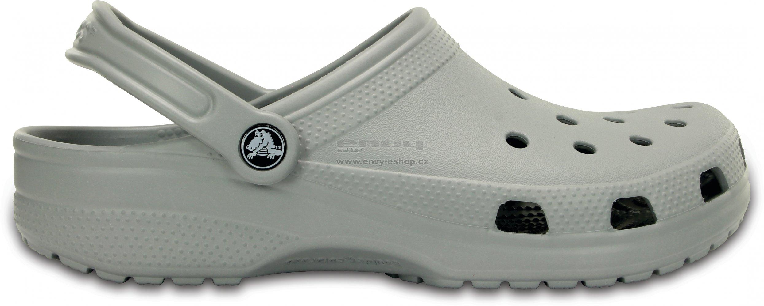 d6d28ccaa20 Dámské pantofle CROCS CLASSIC 10001-007 LIGHT GREY velikost  39-40 ...