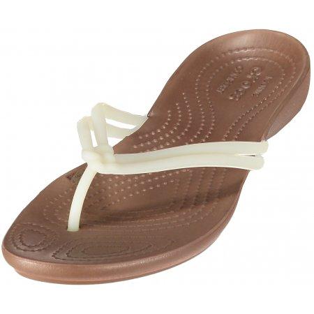 Dámské pantofle CROCS ISABELLA FLIP W 204004-1AO WHITE/BRONZE