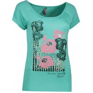 Dámské tričko s krátkým rukávem KIXMI DEBIE  AALTW17104 SVĚTLE ZELENÁ