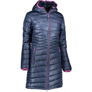 Dámský dlouhý kabát ALPINE PRO ADRIANNA 2 LCTK050 TMAVĚ MODRÁ