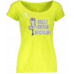 Dámské tričko s krátkým rukávem NORDBLANC NBFLT2831 JEŘÁBKOVA ŽLUTÁ