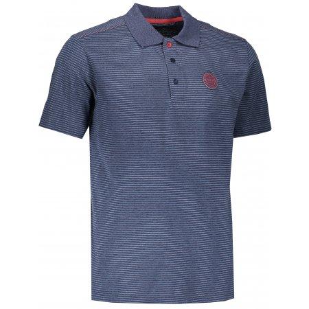 Pánské triko s límečkem ALPINE PRO GERARDO 3 MTSK220 TMAVĚ MODRÁ
