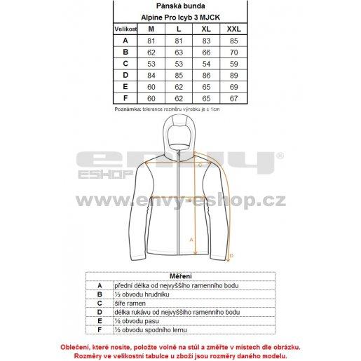 Pánská zimní bunda ALPINE PRO ICYB 3 MJCK211 ČERNÁ
