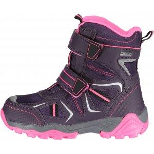 Dětské zimní boty ALPINE PRO HAYLEY KBTK154 SVĚTLE FIALOVÁ