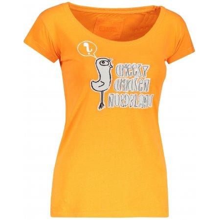 Dámské tričko s krátkým rukávem NORDBLANC NBFLT2831 JEŘÁBKOVA ORANŽOVÁ