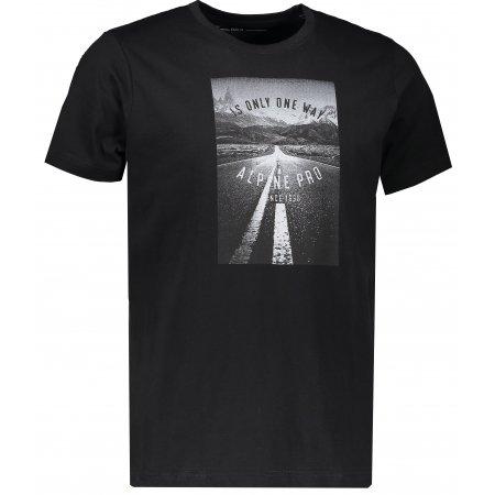 Pánské triko s krátkým rukávem ALPINE PRO AMIT 4 MTSK221 ČERNÁ