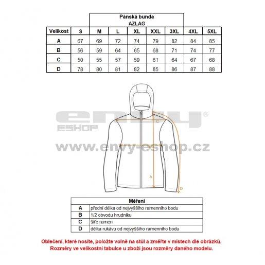 Pánská zimní bunda ALTISPORT AZLAG ALMW17012 TMAVĚ ČERVENÁ