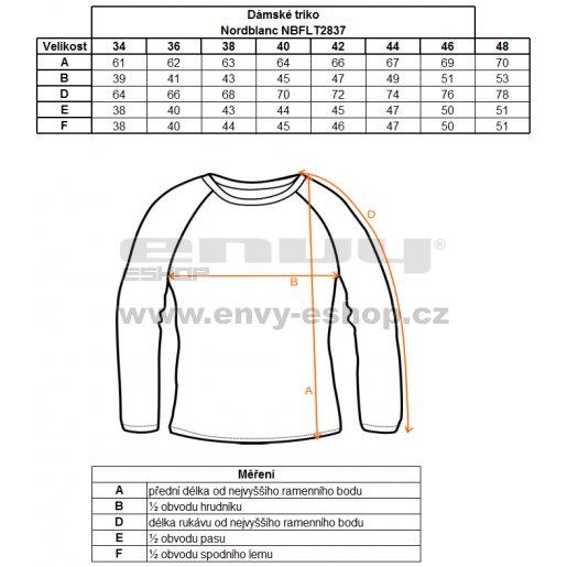 Dámské tričko s dlouhým rukávem NORDBLANC NBFLT2837 MODRÝ KVĚT