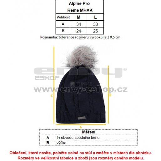 Pánská zimní čepice ALPINE PRO REME MHAK024 ČERNÁ