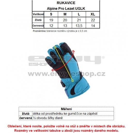 Lyžařské rukavice ALPINE PRO LEZET UGLK007 TMAVĚ MODRÁ