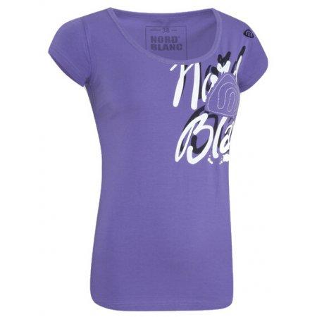 Dámské tričko s krátkým rukávem NORDBLANC NBFLT2833 FIALOVÝ GEPARD