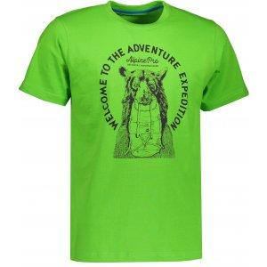 Pánské triko s krátkým rukávem ALPINE PRO ABIC 4 MTSK216 ZELENÁ