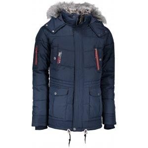 Pánská zimní bunda ALPINE PRO ICYB 3 MJCK211 TMAVĚ MODRÁ