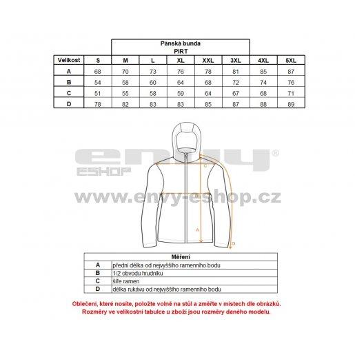Pánská zimní bunda ALTISPORT PIRT ALMW17015 ČERNOŽLUTÁ