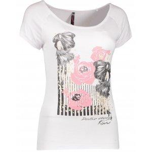 Dámské tričko s krátkým rukávem KIXMI DEBIE  AALTW17104 BÍLÁ