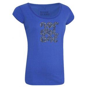 Dámské tričko s krátkým rukávem NORDBLANC NBFLT2809 MODRÝ GEPARD