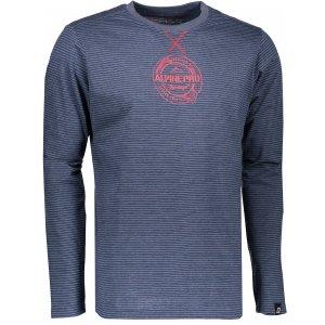 Pánské triko s dlouhým rukávem ALPINE PRO PERKOS 3 MTSK219 TMAVĚ MODRÁ