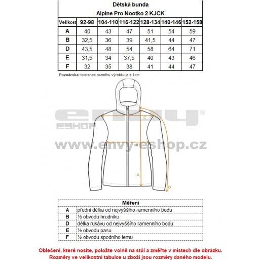 Dětská softshellová bunda ALPINE PRO NOOTKO 2 KJCK071 ZELENÁ