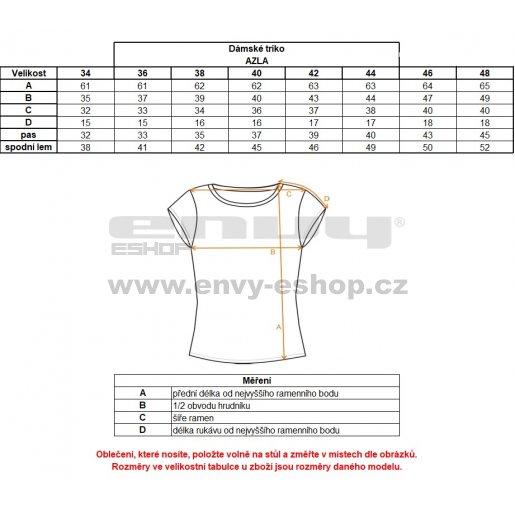 Dámské triko ALTISPORT AZLA ALLW17061 BÍLÁ