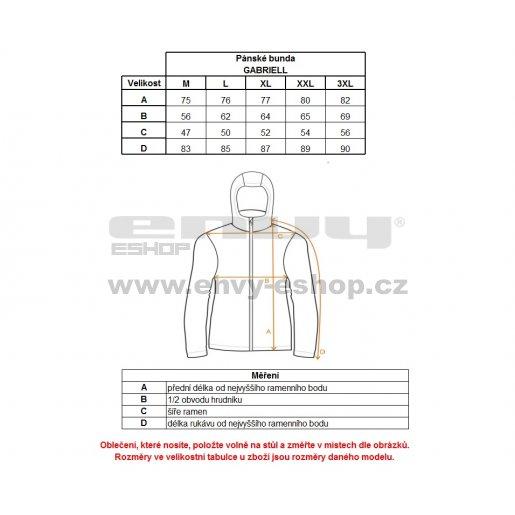 Pánská zimní bunda ALPINE PRO GABRIELL MJCK212 ČERNÁ