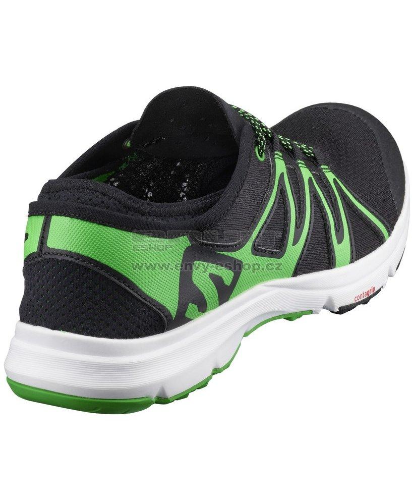 75c9e1e06c8 Pánské běžecké boty SALOMON CROSSAMPHIBIAN SWIFT L39344900  BLACK BLACK CLASSIC GREEN