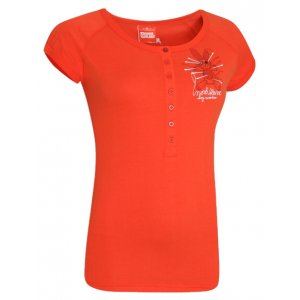 Dámské tričko s krátkým rukávem NORDBLANC NBFLT2832 ORANŽOVORŮŽOVÁ