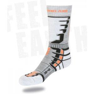 Snowboard a lyžařské ponožky NORDBLANC NBSX2301 ŠEDÁ