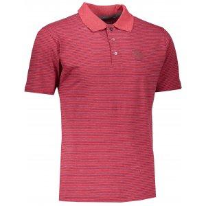Pánské triko s límečkem ALPINE PRO GERARDO 3 MTSK220 TMAVĚ RŮŽOVÁ