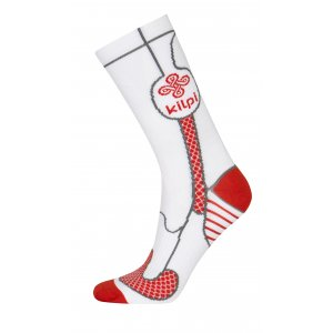 Kompresní ponožky KILPI LEVI BÍLÁ