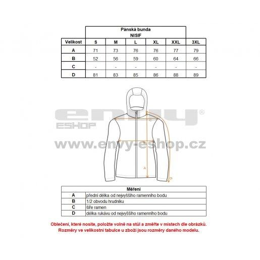 Pánská podzimní bunda ALPINE PRO NISIF MJCK223 ČERNÁ