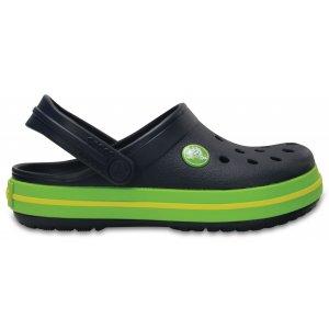 Dětské pantofle CROCS CROCBAND CLOG K 204537-4K6 NAVY/VOLT GREEN