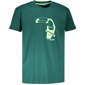 Pánské tričko s krátkým rukávem ALTISPORT KOVRT TMAVĚ ZELENÁ