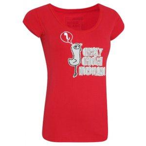 Dámské tričko s krátkým rukávem NORDBLANC NBFLT2831 ZEMITĚ ČERVENÝ DIAMANT