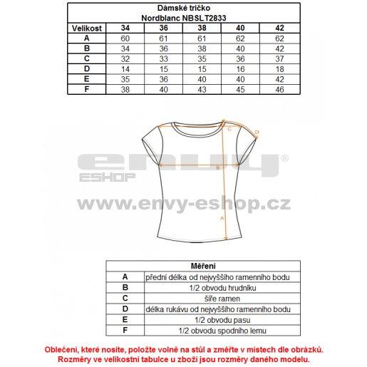 Dámské tričko s krátkým rukávem NORDBLANC NBFLT2833 BÍLÁ