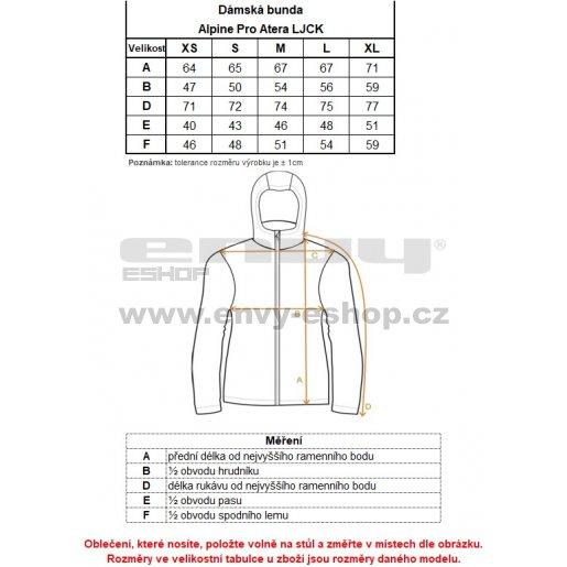 Dámská softshellová bunda ALPINE PRO ATERA LJCK145 SVÍTIVĚ ZELENÁ