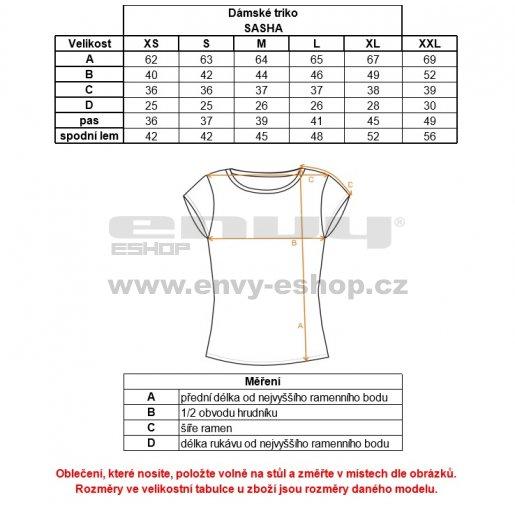 Dámské triko s krátkým rukávem ALPINE PRO SASHA LTSK223 SVĚTLE MODRÁ