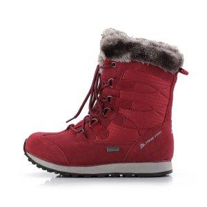 Dámské zimní kotníkové boty ALPINE PRO ALLYSON LBTK144 ČERVENÁ