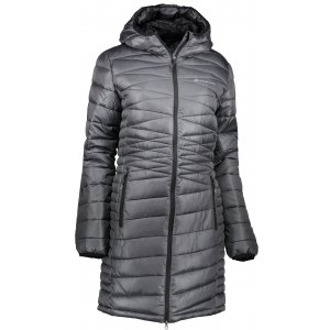 Dámský dlouhý kabát ALPINE PRO ADRIANNA 2 LCTK050 ČERNÁ