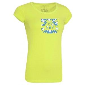 Dámské tričko s krátkým rukávem NORDBLANC NBFLT2830 JEŘÁBKOVA ŽLUTÁ