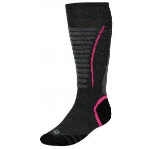 Lyžařské ponožky ALPINE PRO NELL USCK022 RŮŽOVÁ