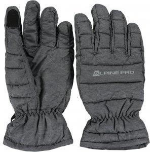 Lyžařské rukavice ALPINE PRO LEZET UGLK007 SVĚTLE ŠEDÁ