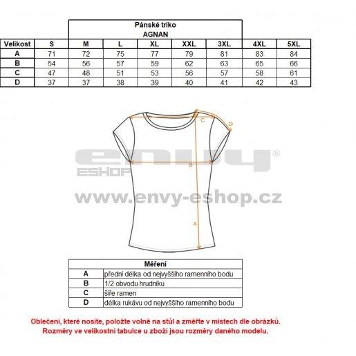 Pánské tričko s krátkým rukávem ALTISPORT AGNAN ALMW17071 TYRKYSOVÁ