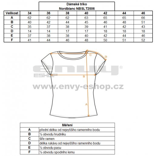 Dámské tričko s krátkým rukávem NORDBLANC NBSLT2506 BÍLÁ