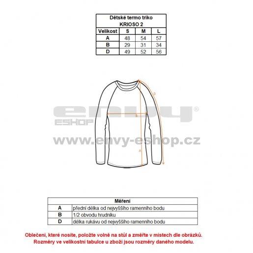 Dětské termo triko s dlouhým rukávem ALPINE PRO KRIOSO 2 KUNK010 ČERNÁ
