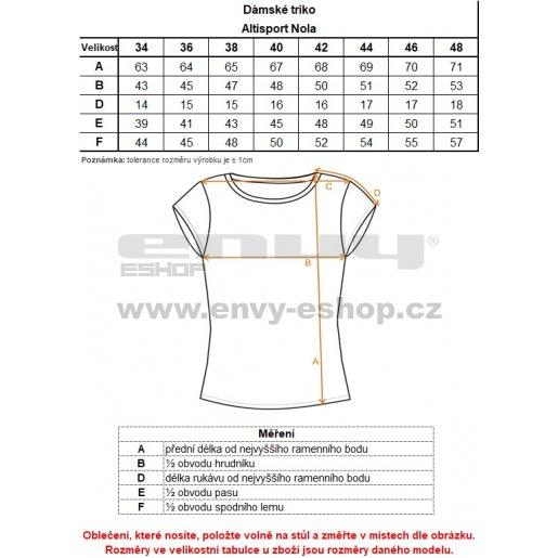 Dámské triko ALTISPORT NOLA TMAVĚ MODRÁ