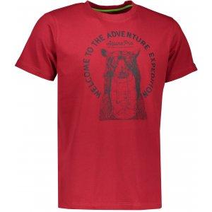 Pánské triko s krátkým rukávem ALPINE PRO ABIC 4 MTSK216 TMAVĚ RŮŽOVÁ